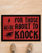 """For those about to knock doormat Doormat 22.5"""" x 15""""  aos-doormat-22-5x15-lifestyle-front-02"""