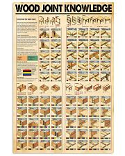 Wood joint knowledge poster 11x17 Poster front