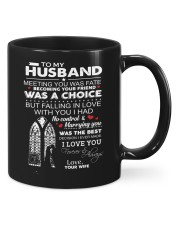 To my husband meeting you was fate mug Mug front