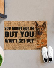 """You might get in but you won't get out doormat Doormat 22.5"""" x 15""""  aos-doormat-22-5x15-lifestyle-front-07"""