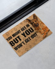 """You might get in but you won't get out doormat Doormat 22.5"""" x 15""""  aos-doormat-22-5x15-lifestyle-front-09"""