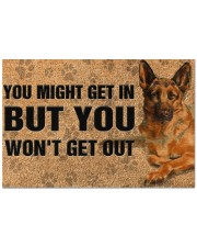 """You might get in but you won't get out doormat Doormat 22.5"""" x 15""""  front"""