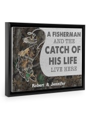 A fisherman and the catch of his life poster 14x11 Black Floating Framed Canvas Prints thumbnail