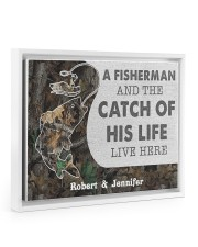 A fisherman and the catch of his life poster 14x11 White Floating Framed Canvas Prints thumbnail