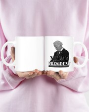 Joe Biden not my president mug Mug ceramic-mug-lifestyle-28
