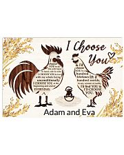 Chicken I choose you custom name poster Horizontal Poster tile