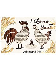 Chicken I choose you custom name poster 17x11 Poster front