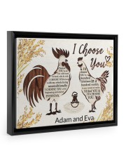 Chicken I choose you custom name poster 14x11 Black Floating Framed Canvas Prints thumbnail