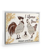 Chicken I choose you custom name poster 14x11 White Floating Framed Canvas Prints thumbnail