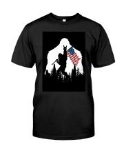 Bigfoot Ammerican flag Premium Fit Mens Tee thumbnail