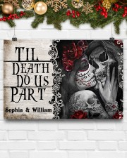 Skeleton til death do us part poster 24x16 Poster aos-poster-landscape-24x16-lifestyle-29