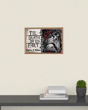 Skeleton til death do us part poster 24x16 Poster poster-landscape-24x16-lifestyle-09