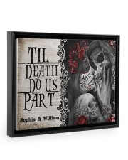 Skeleton til death do us part poster Floating Framed Canvas Prints Black tile