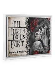 Skeleton til death do us part poster 14x11 White Floating Framed Canvas Prints thumbnail