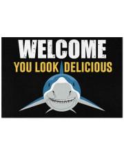 """Shark welcome you look delicious doormat Doormat 22.5"""" x 15""""  front"""