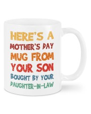 Here's a mother's day mug from your son mug Mug front