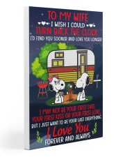 Snoopy my wife I could turn back the clock canvas 20x30 Gallery Wrapped Canvas Prints thumbnail
