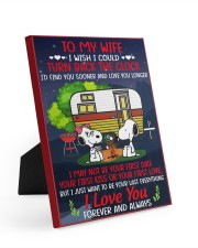 Snoopy my wife I could turn back the clock canvas 8x10 Easel-Back Gallery Wrapped Canvas front