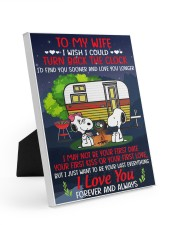 Snoopy my wife I could turn back the clock canvas Easel-Back Gallery Wrapped Canvas tile