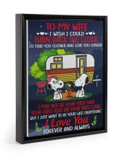 Snoopy my wife I could turn back the clock canvas 11x14 Black Floating Framed Canvas Prints thumbnail