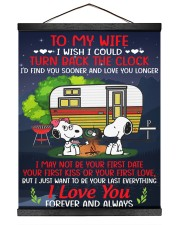Snoopy my wife I could turn back the clock canvas 16x20 Black Hanging Canvas thumbnail