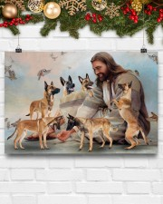 God surrounded by Malinois angels Gift for you Horizontal Poster 24x16 Poster aos-poster-landscape-24x16-lifestyle-29