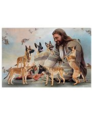 God surrounded by Malinois angels Gift for you Horizontal Poster 24x16 Poster front