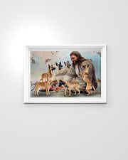 God surrounded by Malinois angels Gift for you Horizontal Poster 24x16 Poster poster-landscape-24x16-lifestyle-02