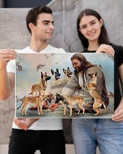 God surrounded by Malinois angels Gift for you Horizontal Poster 24x16 Poster poster-landscape-24x16-lifestyle-21