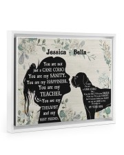 You are not just a cane corso my sanity poser Floating Framed Canvas Prints White tile