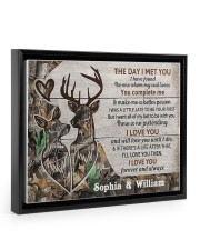 Personalized Deer The day I met you poster 14x11 Black Floating Framed Canvas Prints thumbnail