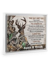 Personalized Deer The day I met you poster 14x11 White Floating Framed Canvas Prints thumbnail