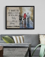 Fishing I want to hold your hand poster 14x11 Black Floating Framed Canvas Prints aos-floating-framed-canvas-pgw-14x11-black-lifestyle-front-02