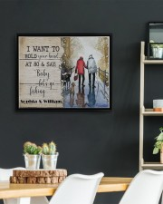 Fishing I want to hold your hand poster 14x11 Black Floating Framed Canvas Prints aos-floating-framed-canvas-pgw-14x11-black-lifestyle-front-03