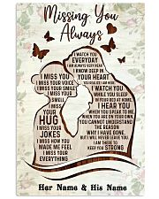 Missing you always I watch you everyday poster 11x17 Poster front