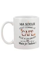 Ma soeur cest comme le cafe mug Mug back