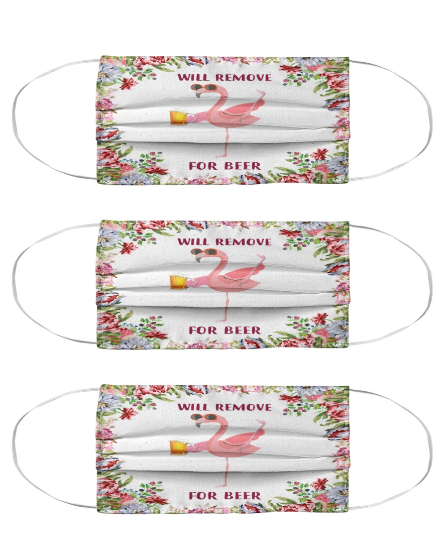 Flamingo will remove for beer face mask Cloth Face Mask - 3 Pack