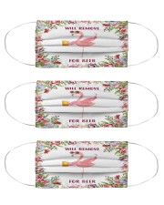 Flamingo will remove for beer face mask Cloth Face Mask - 3 Pack front
