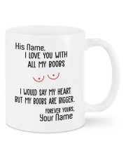 I love you with all my boobs mug Mug front