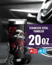 Skull rose custom name tumbler 20oz Tumbler aos-20oz-tumbler-lifestyle-front-39