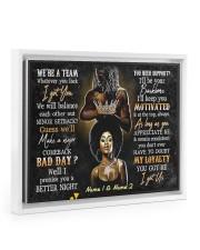 We're a team whatever you lack I got you poster Floating Framed Canvas Prints White tile