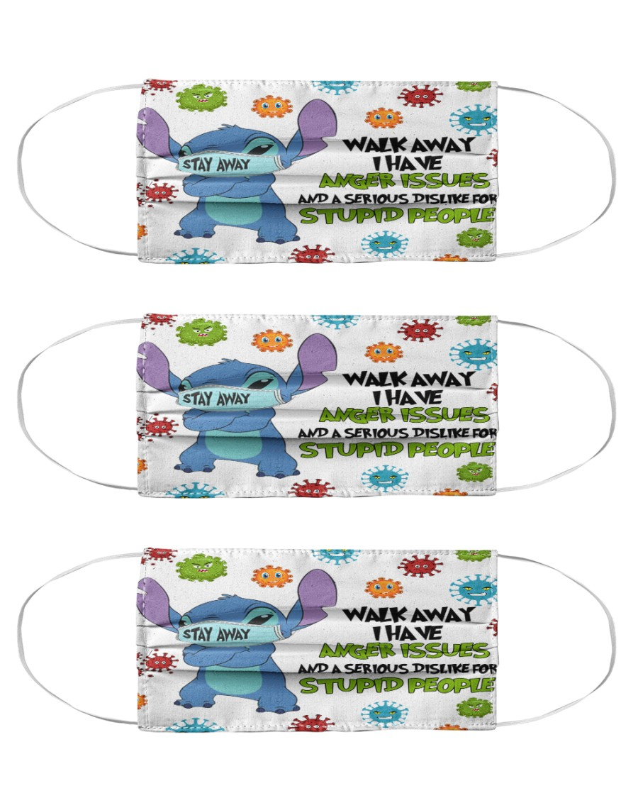 Stitch walk away I have anger issues face mask Cloth Face Mask - 3 Pack