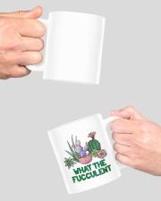 Cactus what the fucculent mug Mug ceramic-mug-lifestyle-42
