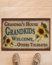 """Grandma's house grandkids welcome doormat Doormat 22.5"""" x 15""""  aos-doormat-22-5x15-lifestyle-front-02"""