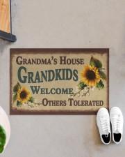 """Grandma's house grandkids welcome doormat Doormat 22.5"""" x 15""""  aos-doormat-22-5x15-lifestyle-front-07"""