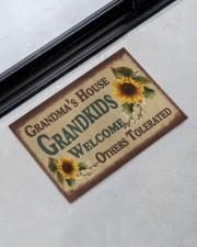 """Grandma's house grandkids welcome doormat Doormat 22.5"""" x 15""""  aos-doormat-22-5x15-lifestyle-front-09"""