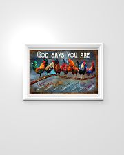 Rooster god says you are poster 24x16 Poster poster-landscape-24x16-lifestyle-02