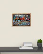 Rooster god says you are poster 24x16 Poster poster-landscape-24x16-lifestyle-09