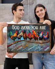 Rooster god says you are poster 24x16 Poster poster-landscape-24x16-lifestyle-21