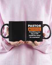 Pastor warning anything you say or do mug Mug ceramic-mug-lifestyle-28